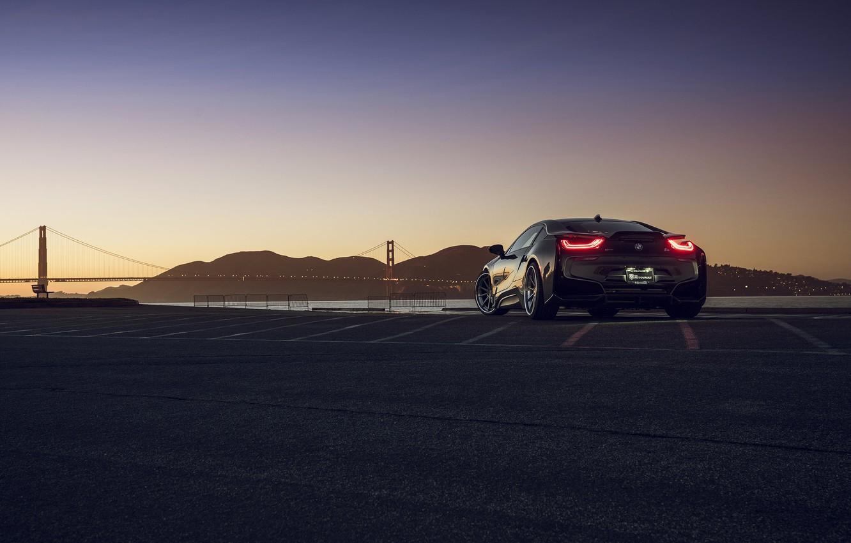 Photo wallpaper BMW, San Francisco, Rear, I8, Autovault