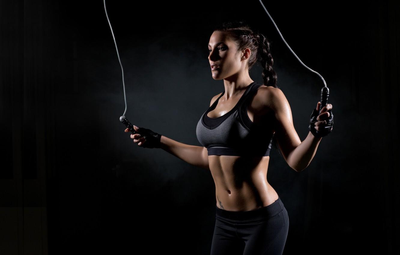 Photo wallpaper jump, workout, fitness
