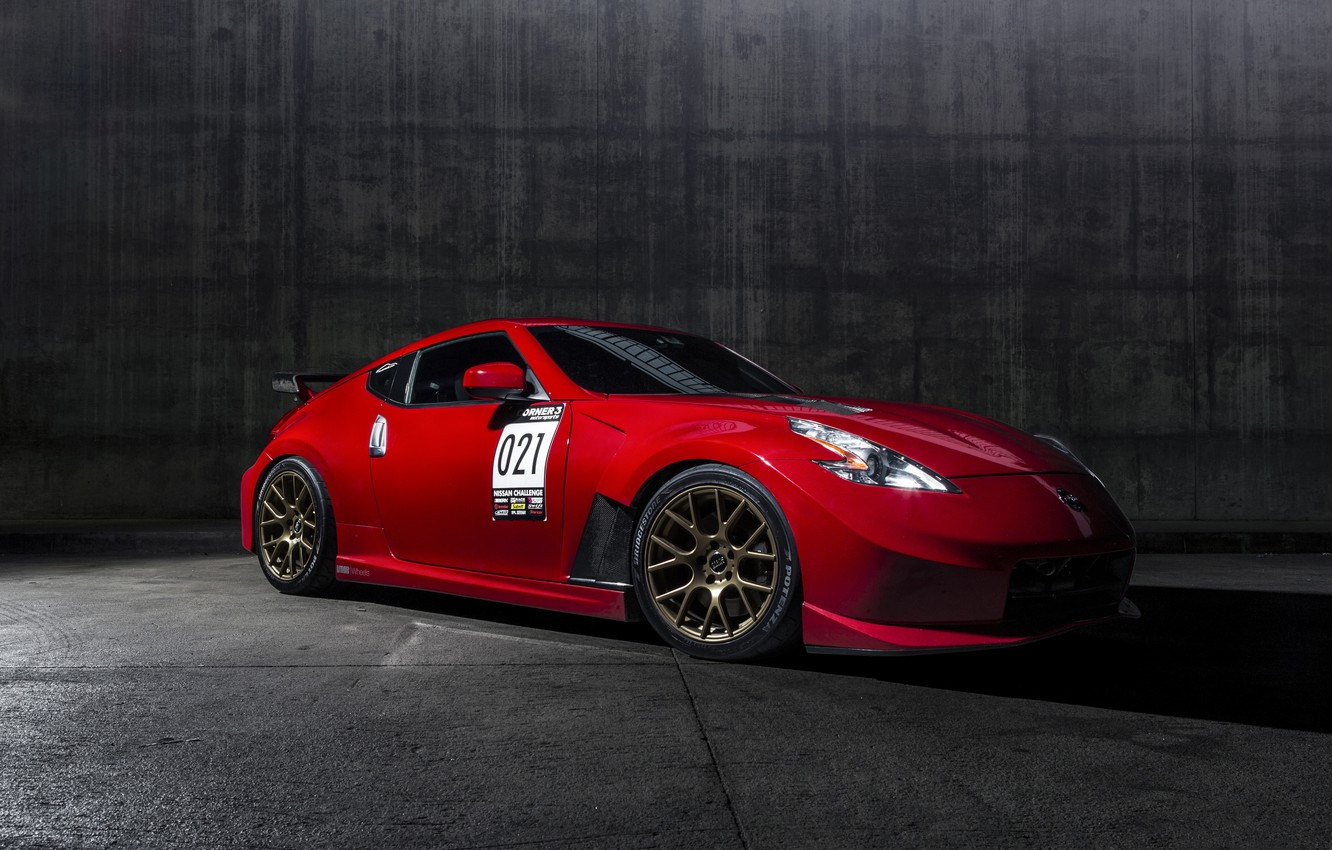 Photo wallpaper Nissan, Red, 370Z, Nismo, Solid