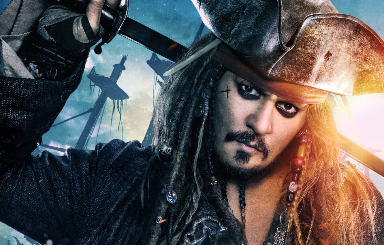 Photo wallpaper decoration, Johnny Depp, hat, fantasy, captain, braids, Johnny Depp, Jack Sparrow, Pirates of the Caribbean, …