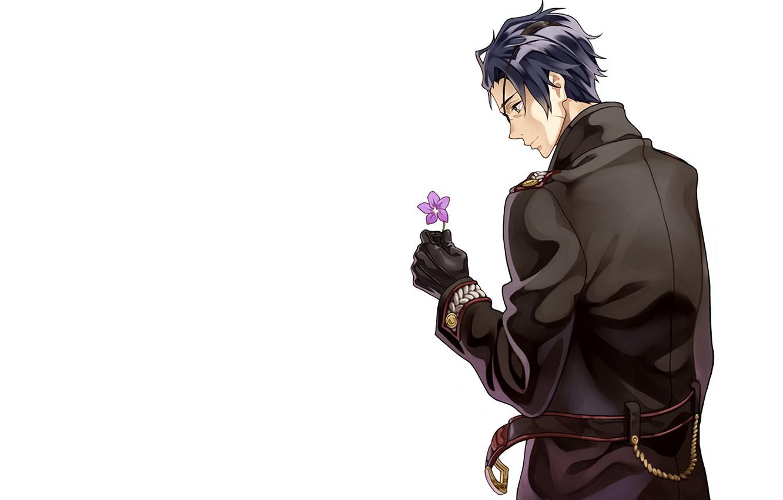 Photo wallpaper Flower, Background, Guy