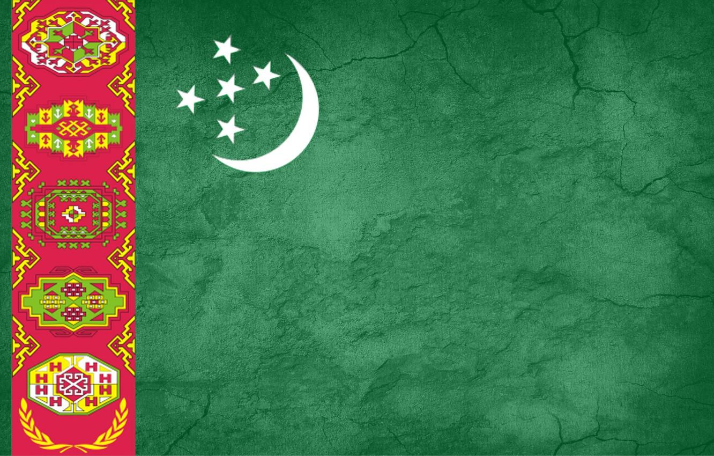 Photo wallpaper green, ornament, Turkmenistan, Baydak, welayat, flag save, Turkmenistan flag