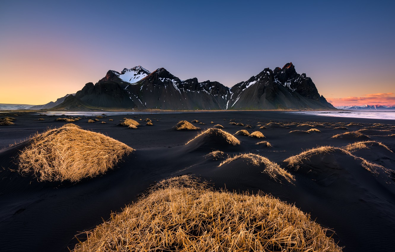 Wallpaper Beach Mountains Iceland Black Sand Images For Desktop Section Pejzazhi Download