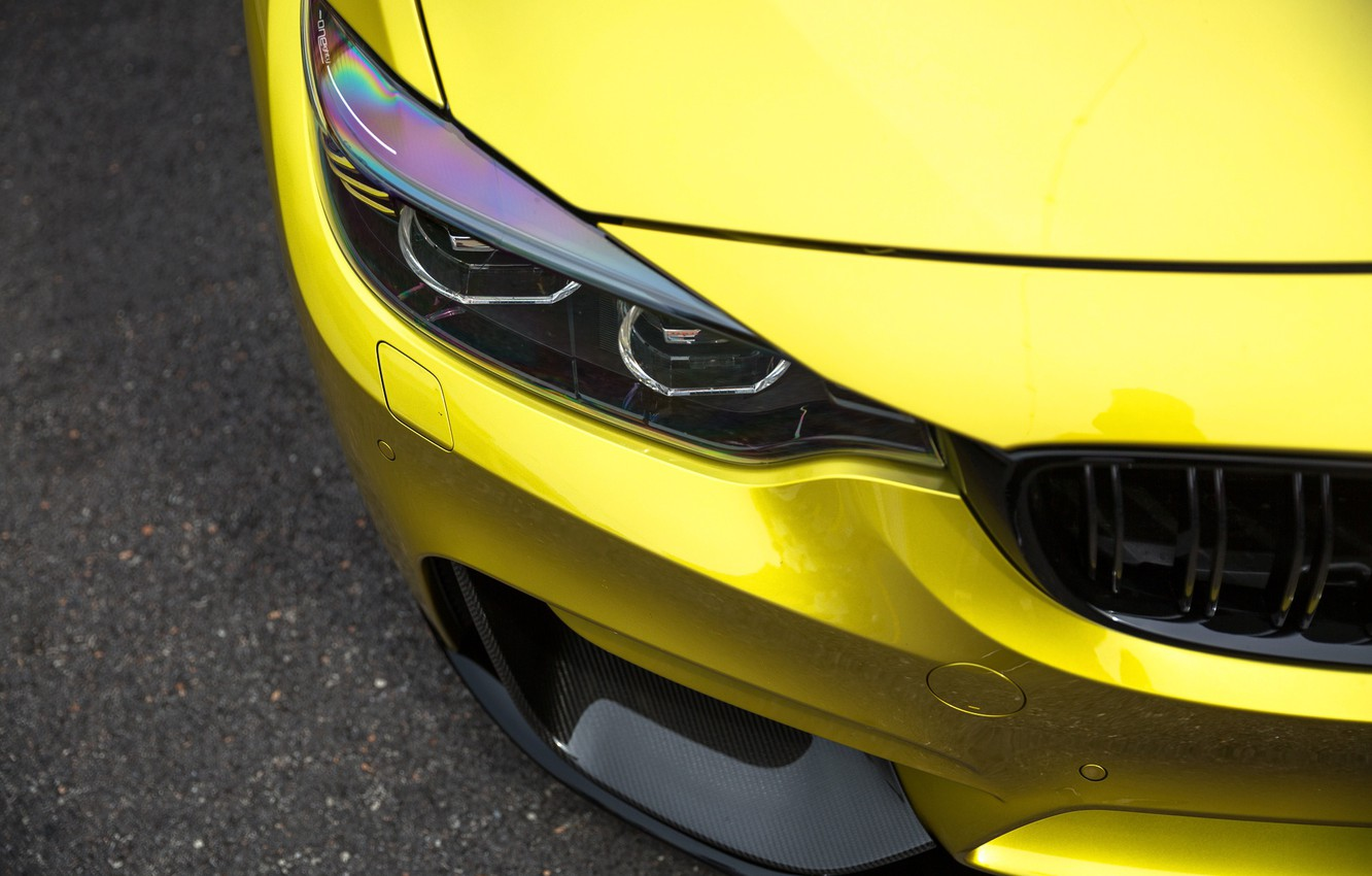 Photo wallpaper BMW, Carbon, Yellow, Gold, F82, Sight