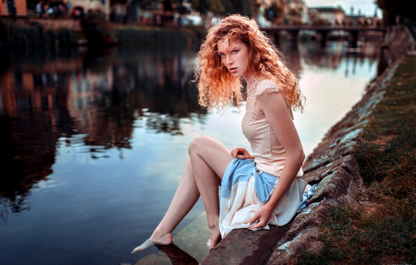 Model Girl Redhead River Fashion Hd Wallpaper Wallpapers 1080p