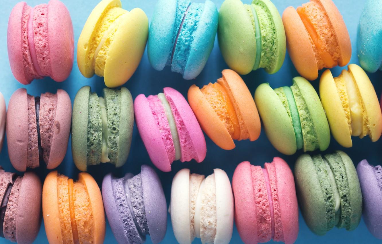 Photo wallpaper colorful, dessert, pink, cakes, sweet, sweet, dessert, macaroon, french, macaron, macaroon