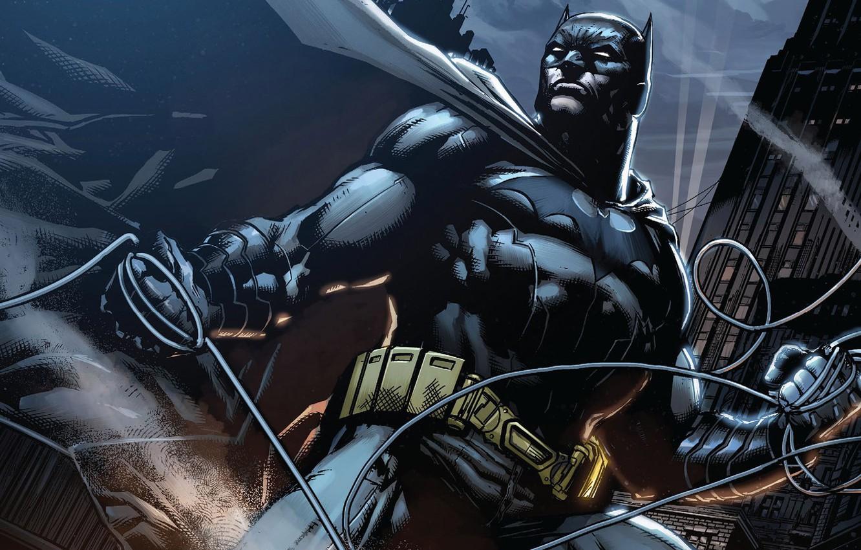 Photo wallpaper Night, Batman, Costume, Belt, Hero, Mask, Comic, Cloak, Superhero, Hero, Batman, Night, Bruce Wayne, DC …