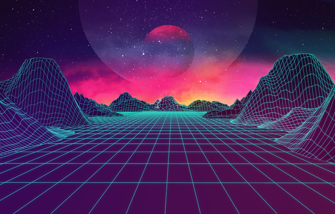 Wallpaper Mountains Music Stars Neon Space Background Electronic Synthpop Darkwave Synth Retrowave Synth Pop Synthwave Synth Pop Johnleepee Images For Desktop Section Rendering Download