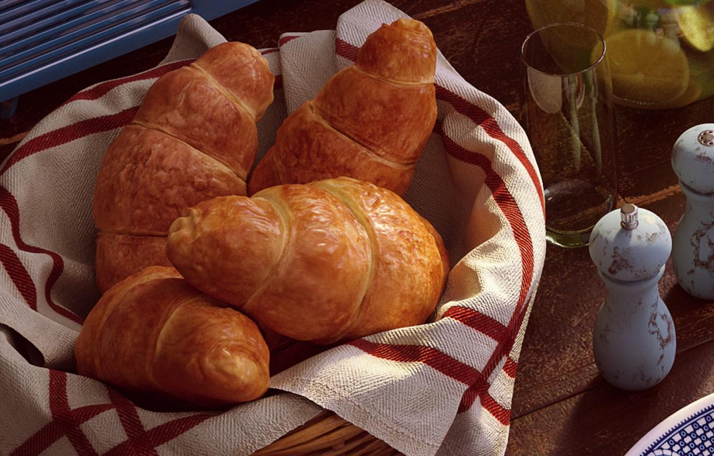 Photo wallpaper food, Breakfast, morning, croissant, Bondok Max, Breakfast Time
