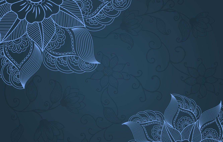 Photo wallpaper flowers, pattern, texture, ornament, vintage, ornament, floral