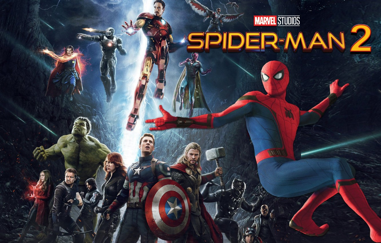 Wallpaper Captain America Spider Man Iron Man Avengers