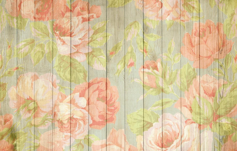 Photo wallpaper background, texture, vintage, peonies