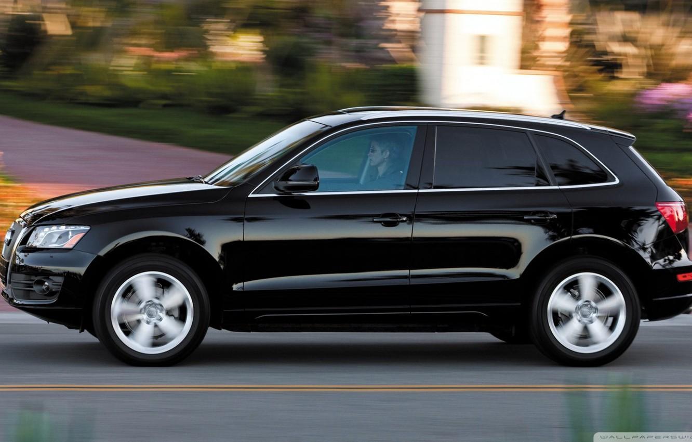 Photo wallpaper road, black, speed, Audi q5
