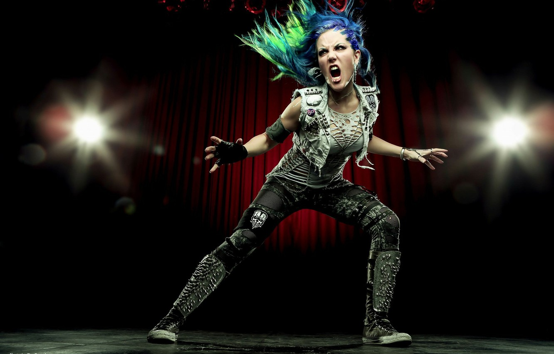 Photo wallpaper singer, pose, Arch Enemy, Alissa White-Gluz
