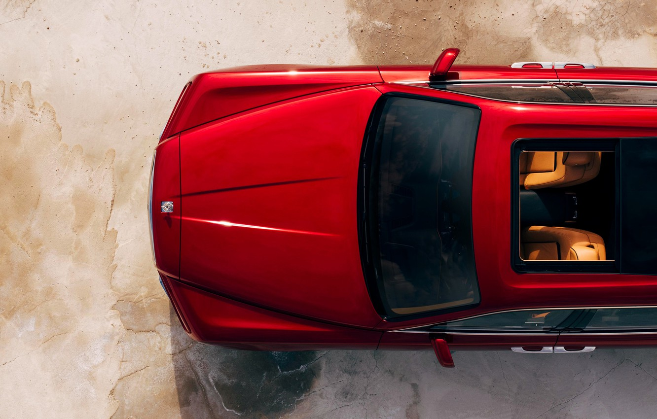 Photo wallpaper Rolls-Royce, the view from the top, 2018, Cullinan