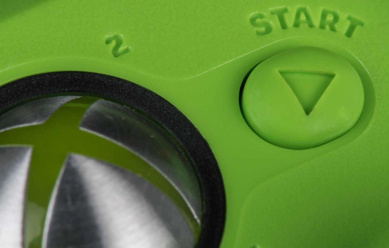 Photo wallpaper macro, the game, button, Xbox 360