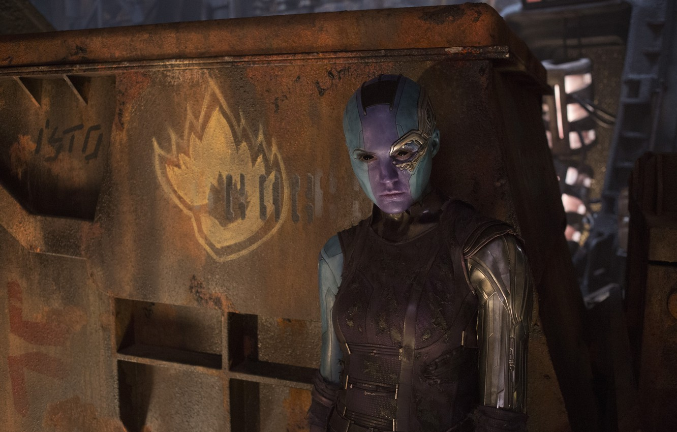 Wallpaper Alien Nebula Karen Gillan Guardians Of The Galaxy