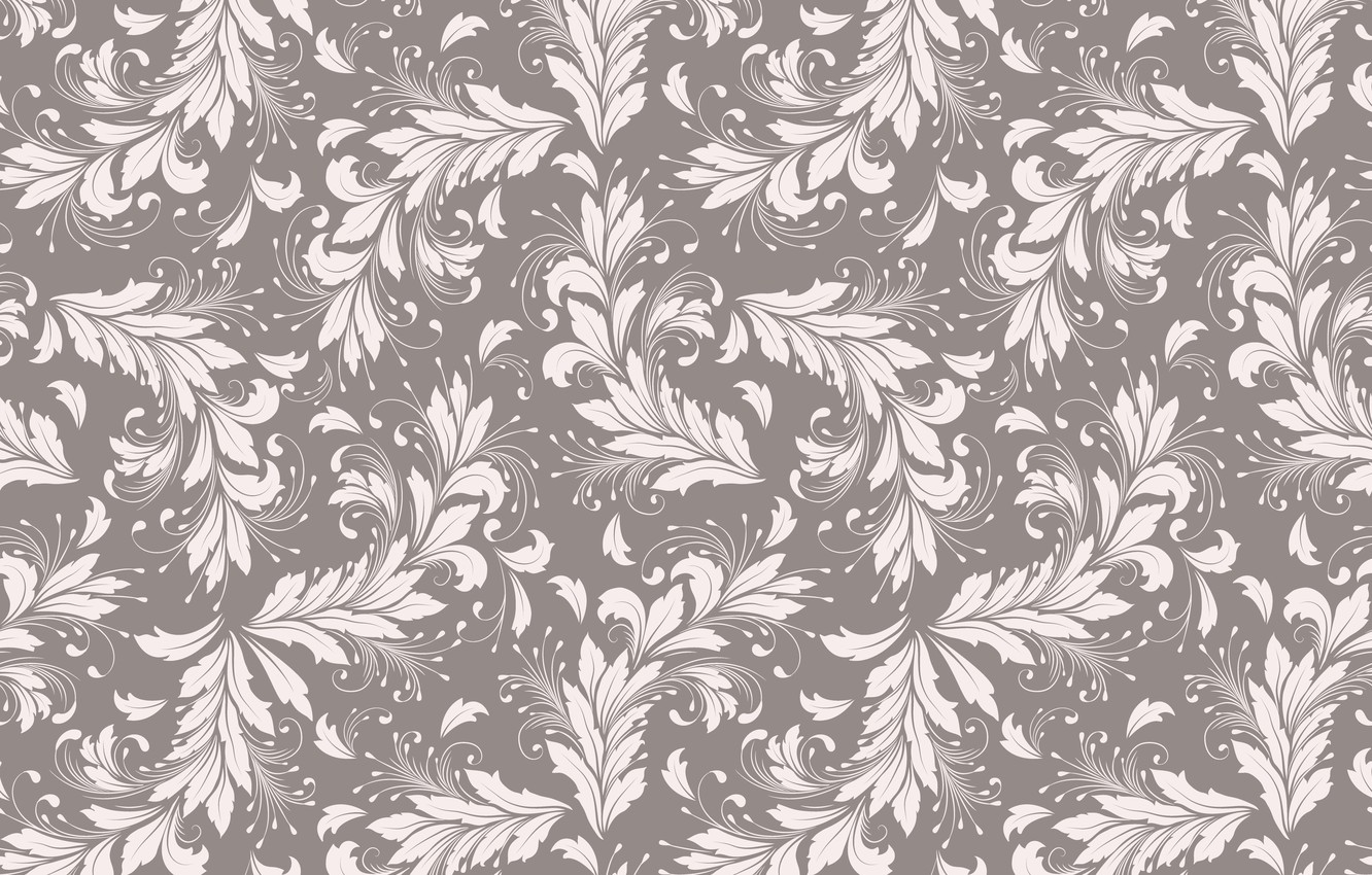 Photo wallpaper leaves, background, vector, texture, vintage