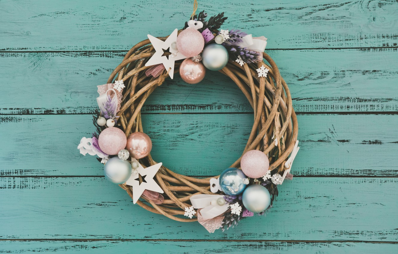 Photo wallpaper decoration, New Year, Christmas, christmas, wreath, wood, merry christmas, decoration, xmas, wreath