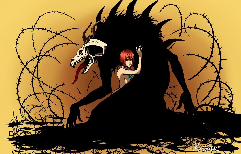 Wallpaper Girl Monster Spikes Mahou Tsukai No Yome The Ancient
