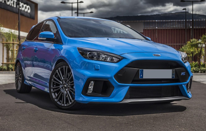 Photo wallpaper Ford, Focus, Blue, 2017