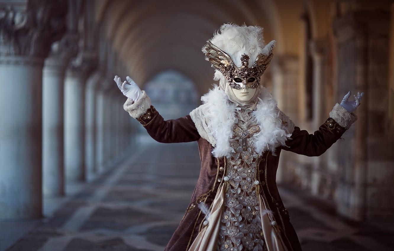 Photo wallpaper mask, costume, carnival