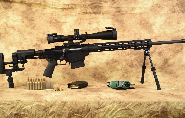 Photo wallpaper Ruger, caliber 6.5, Precision Rifle