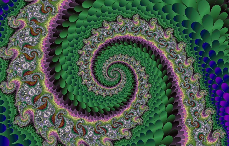 Photo wallpaper pattern, twirl, fractal