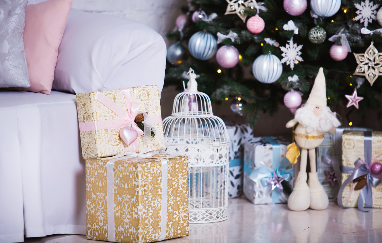 Photo wallpaper decoration, room, toys, tree, New Year, Christmas, gifts, white, Christmas, design, wood, Merry Christmas, Xmas, …