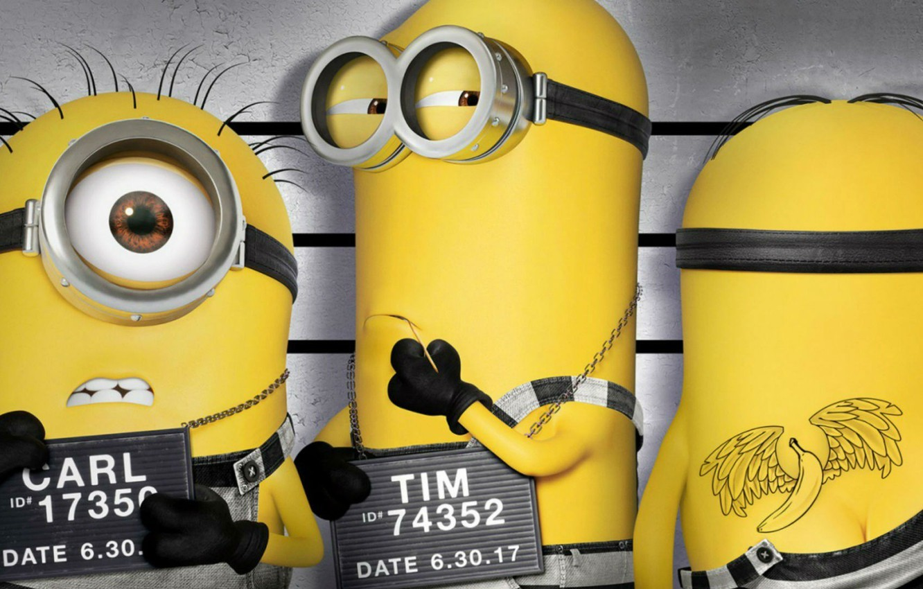Wallpaper Kevin Tatoo Animated Film Despicable Me Carl