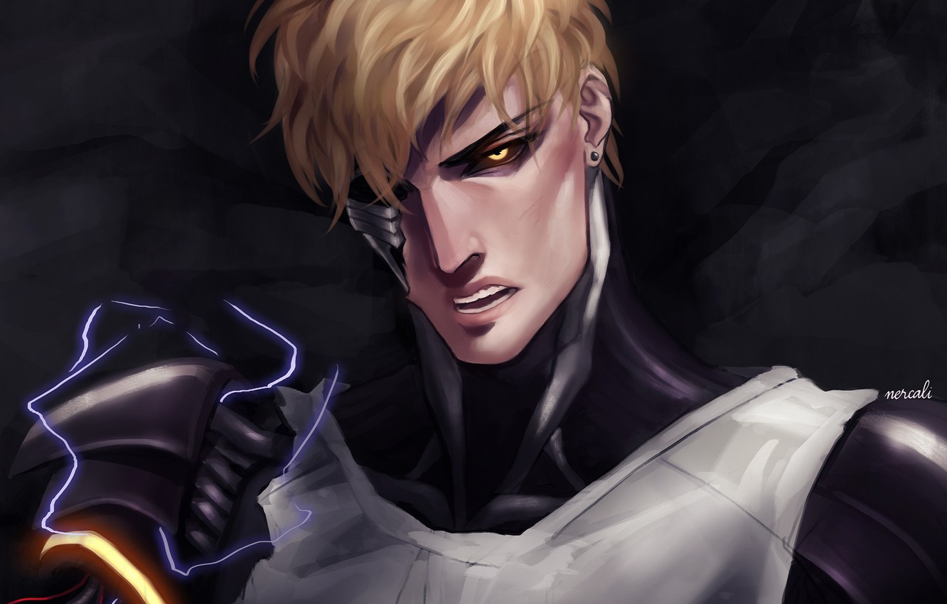 Wallpaper Look Anime Art Guy One Punch Man Genos Images For