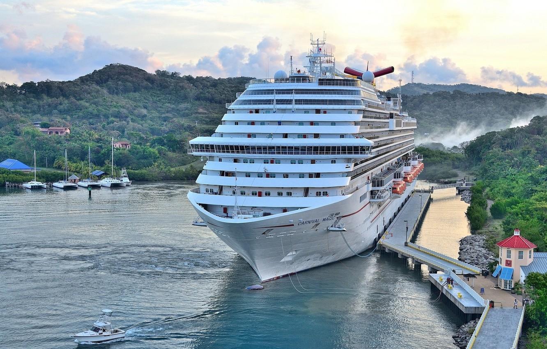 Photo wallpaper ship, Marina, panorama, liner