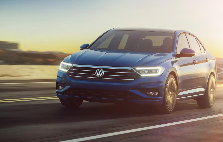 Photo wallpaper lights, Volkswagen, Jetta, sedan, 2019