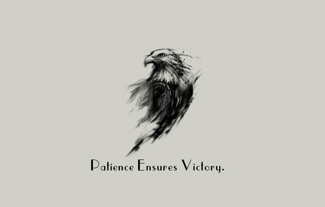 Wallpaper Eagle Minimalism Background Victory Quote