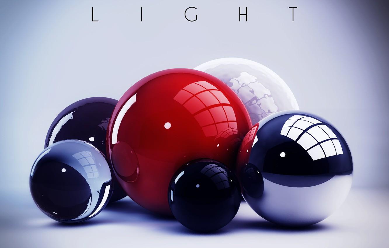 Photo wallpaper colors, colorful, abstract, light, balls, rendering, digital art, geometry, Spheres