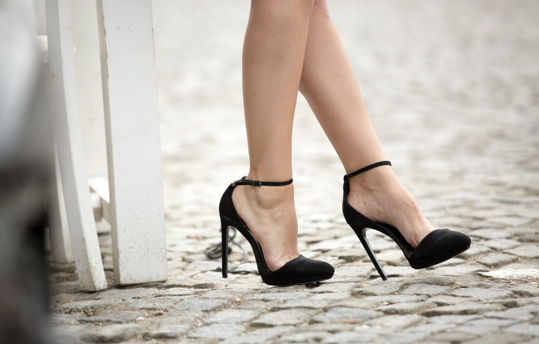 Photo wallpaper legs, model, heels