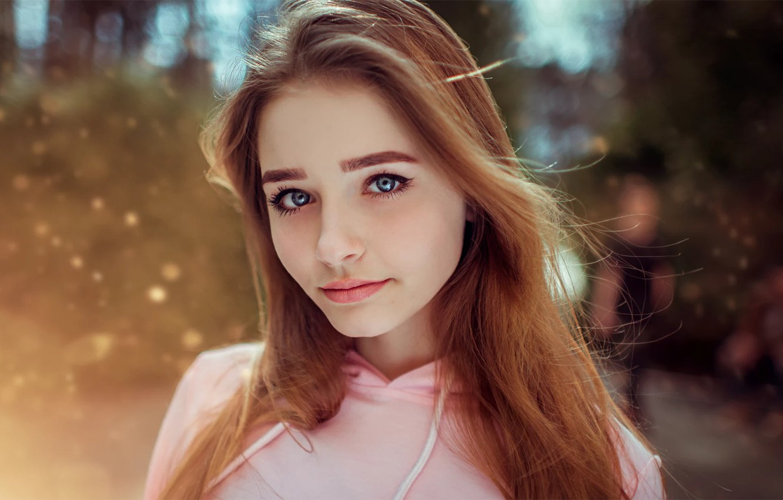 Photo wallpaper Girl, Look, Model, Light, Hair, Maryana, Kirill Bukrey, Mariana, Petchenko