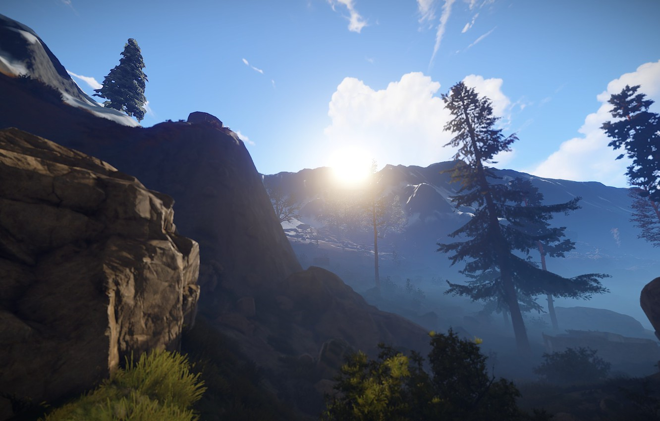Wallpaper Sunset Sun Solace Rust Game 2015 Game 2016
