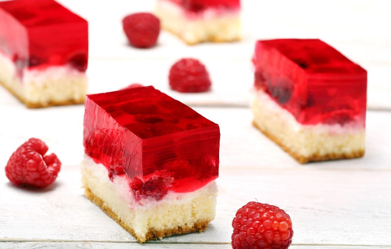 Photo wallpaper raspberry, cake, cream, dessert, sweet, jelly, biscuit