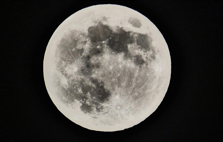 Photo wallpaper space, moon, sky