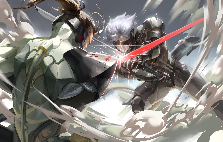 Photo wallpaper sword, battle, Snake, Sam, konami, Raiden, Metal Gear Rising: Revengeance, cyborg, Jack, Metal Gear Rising, …