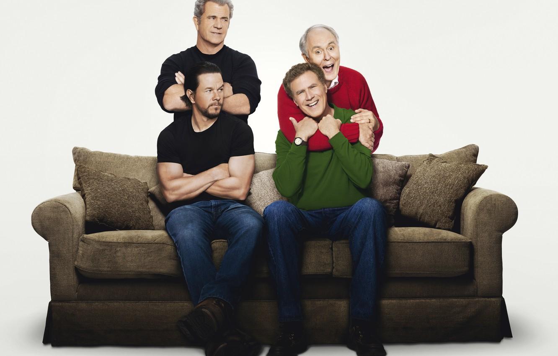 Photo wallpaper dad, Mark Wahlberg, Mark Wahlberg, Mel Gibson, Mel Gibson, Dusty, Will Ferrell, Will Ferrell, Brad, …