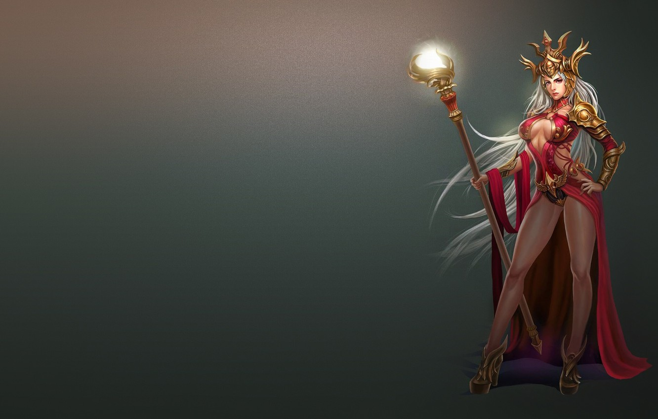 Photo wallpaper the game, art, MAG, staff, Sorceress, fantasy, Frank Lee