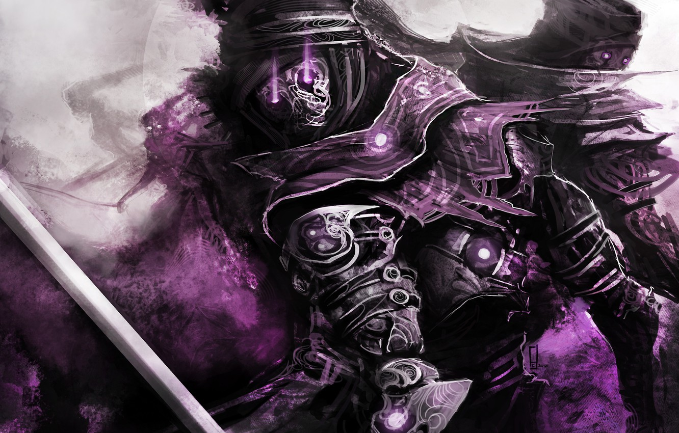 Photo wallpaper purple, theDURRRRIAN, Character Design, immortals