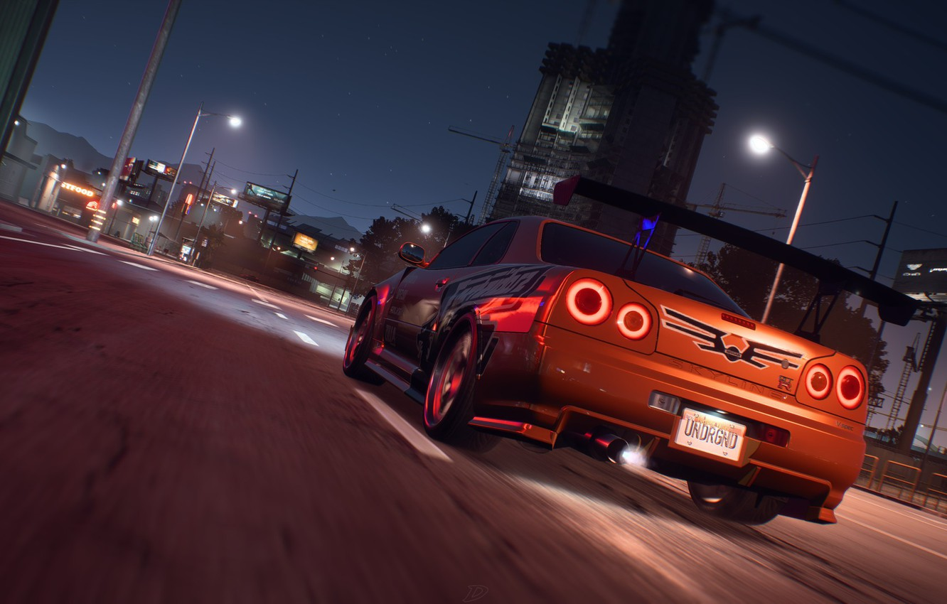 Wallpaper Nissan Nfs Skyline Electronic Arts R34 Need For