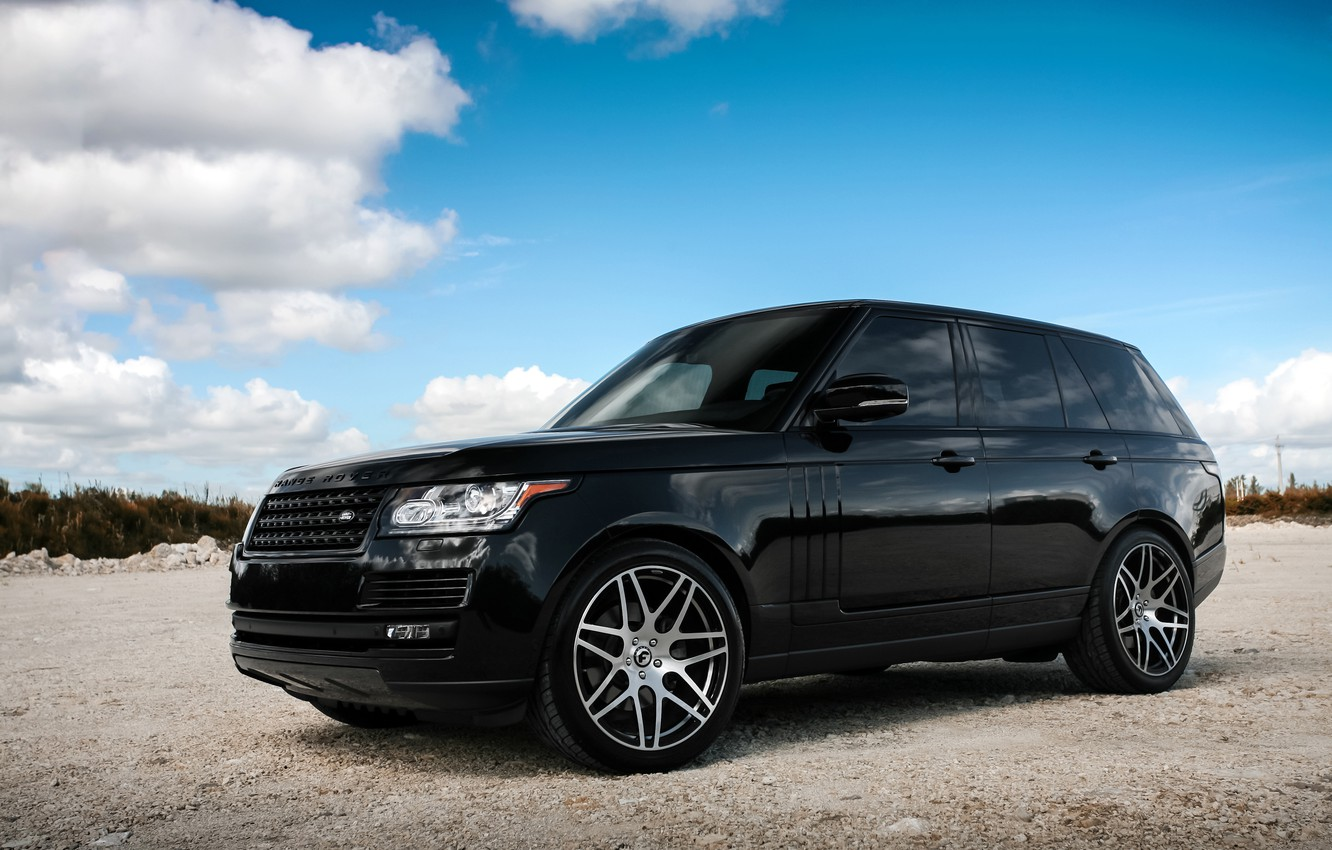 Photo wallpaper Range Rover, with, color, body, HSE, trim, matched
