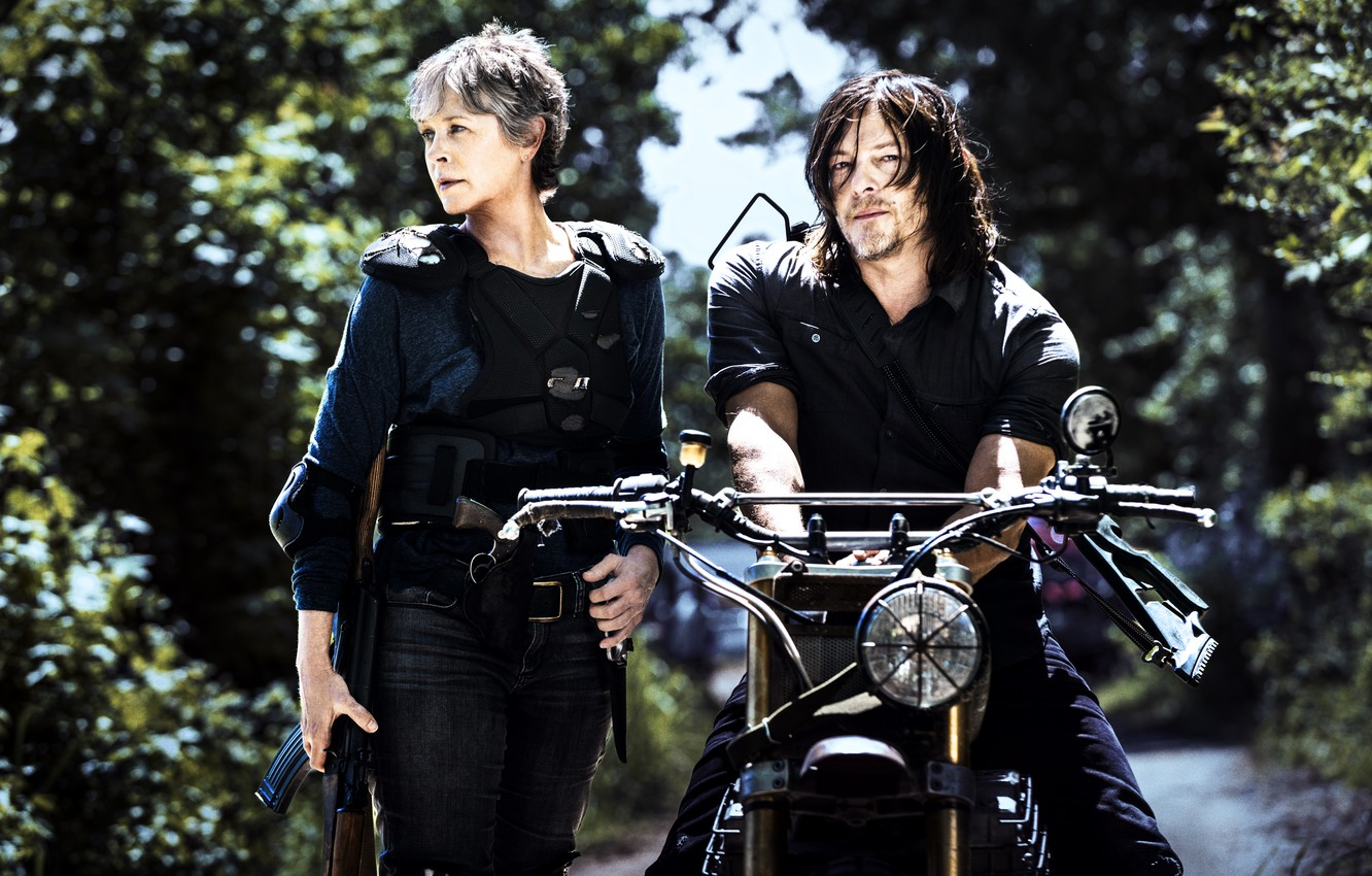Wallpaper The Walking Dead Daryl Dixon Carol Season 8 Images