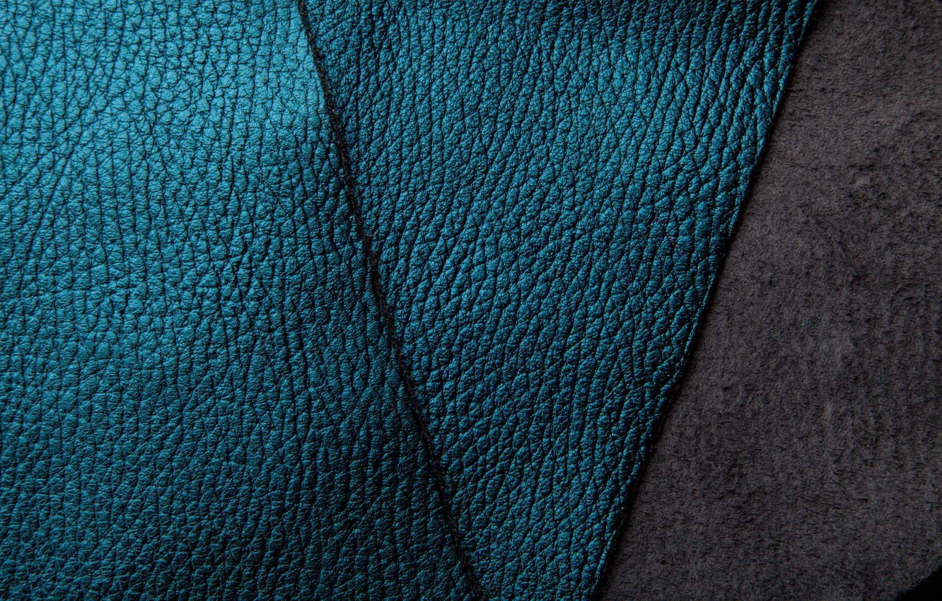 Photo wallpaper leather, texture, blue, background, leather, suede