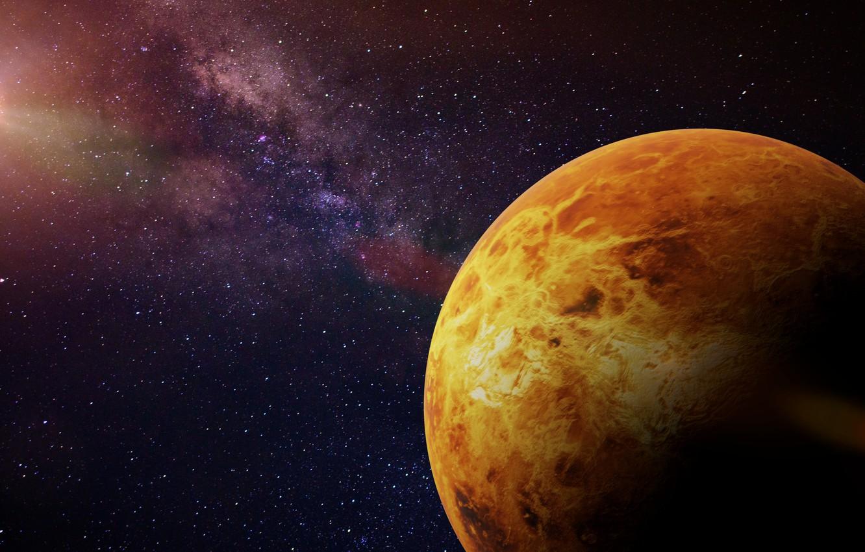 Photo wallpaper cosmos, planet, sci fi