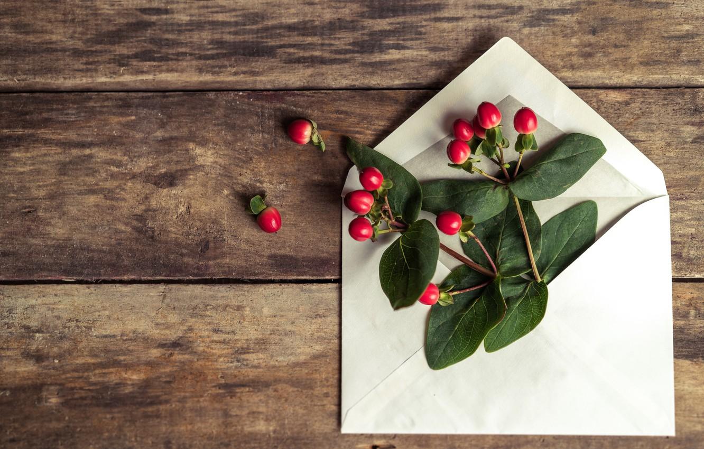Photo wallpaper flowers, romantic, the envelope, letter